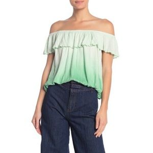 Free People Cora Lee Off The Shoulder Top Size XS